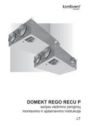 REGO RECU PE montavimo instrukcija - Komfovent