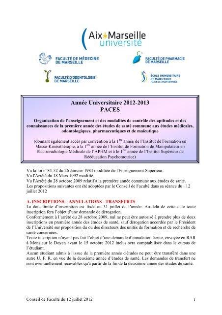 ETUDES DE MEDECINE - Timone.univ-mrs.fr