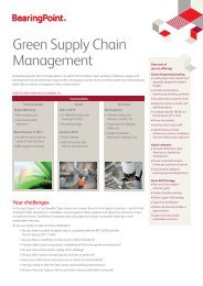 Green Supply Chain Management - BearingPoint