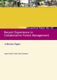 Recent Experience in Collaborative Forest Management
