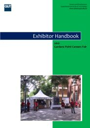 Exhibitor Handbook - QUT Careers and Employment