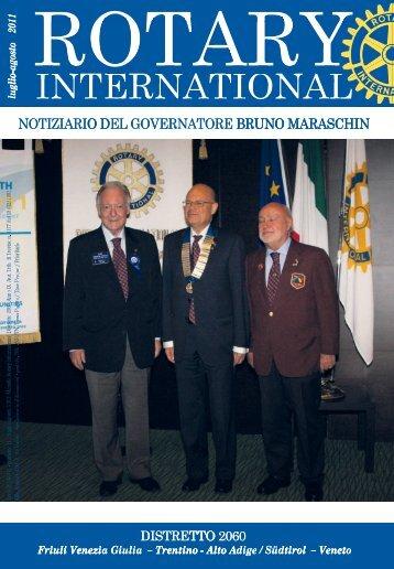 Notiziario luglio-agosto 2011 - Rotary International Distretto 2060
