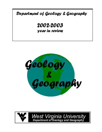 graduation 2002-2003 - Department of Geology and Geography ...