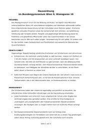 Hausordnung (PDF) - Bundesgymnasium Wien 9, Wasagasse 10 ...