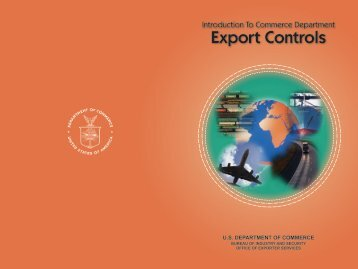 Introduction to the Commerce Department's Export Controls