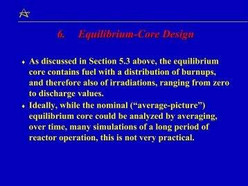 6. Equilibrium-Core Design
