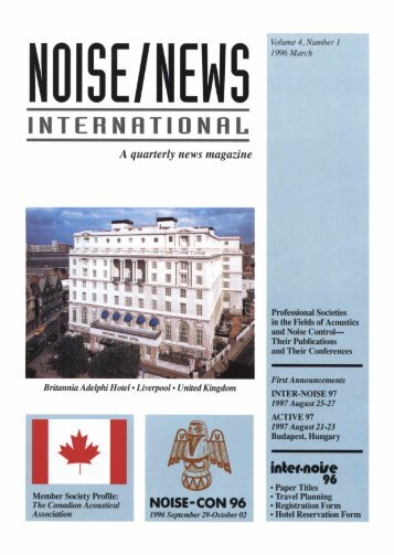 Volume 4, Number 1, March, 1996 - Noise News International