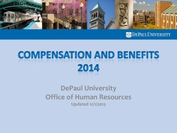 Full-time Staff Benefits Presentation - Human Resources - DePaul ...