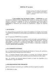 EDITAL Nº 01/2011 - Unifenas