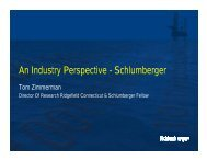 An Industry Perspective - Schlumberger