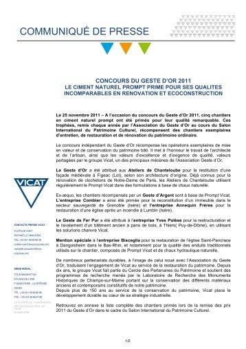 secteur sauvegardé de Grenoble (Isère) et l'entreprise - Vicat