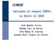 Aplicações de imagens CBERS no âmbito do IBGE - INPE/OBT/DGI