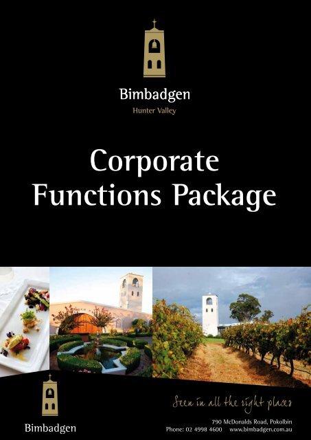 Corporate Events Package - Bimbadgen Estate