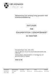 riktlinjer för dokumentation i genomförandet av ... - Vara kommun