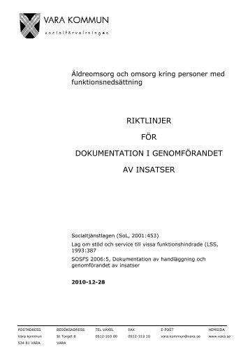 Svenskt stod till dokumentation