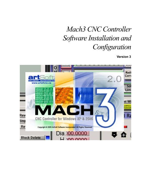 Mach3 CNC Controller Software Installation and Configuration
