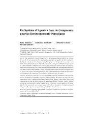 Un Syst`eme d'Agents `a base de Composants pour les ... - LGI2P