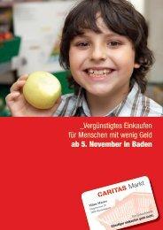 Flyer Caritas-Markt unterstützen - Lernwerk