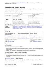 Diploma of Arts (DART) - DipArts - University of Southern Queensland