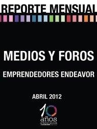 Emprendedores Endeavor Resumen de apariciones ABRIL 2012