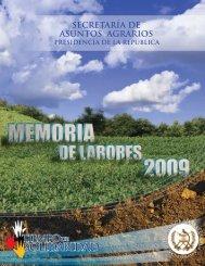 Memoria de Labores 2009 - Inicio