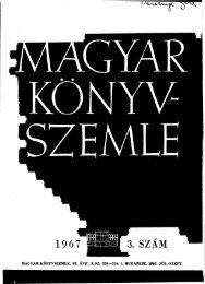 Magyar Könyvszemle 83. évf. 3. szám 1967. Júl.-Szept. - EPA
