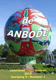 Ledenblad ANBO Emmen 2013 Jaargang 5—Nummer 1