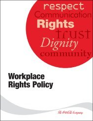 Workplace Rights Policy - EthicsPoint