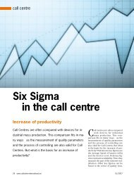 Six Sigma in the call centre - CallCenter PROFI