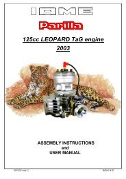 125cc LEOPARD TaG engine 2003 ASSEMBLY INSTRUCTIONS ...