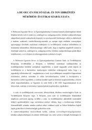 A DE OEC-en folyó szak- és továbbképzés működési - Debreceni ...