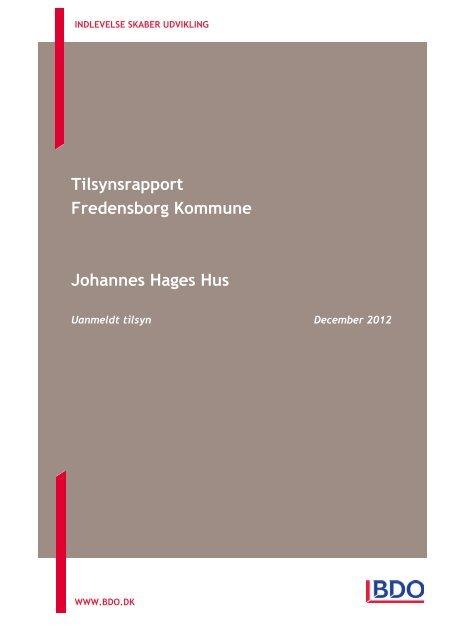 Tilsynsrapporten kan læses her - Fredensborg Kommune
