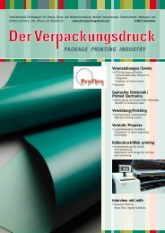 PACKAGE PRINTING INDUSTRY - Altana AG