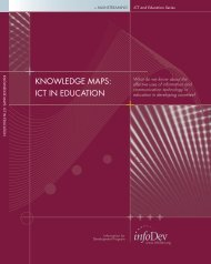 KNOWLEDGE MAPS: ICT IN EDUCATION - infoDev