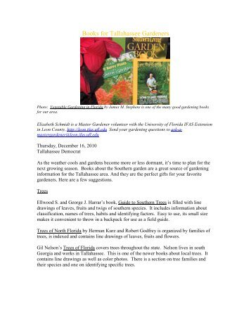 Books for Tallahassee Gardeners - Leon County Extension