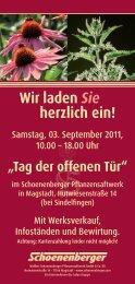 Info-Flyer als PDF downloaden - Schoenenberger Pflanzensaftwerk