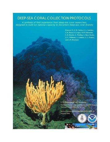 Deep-Sea Coral Collection Protocols - NOAA's Coral Reef ...