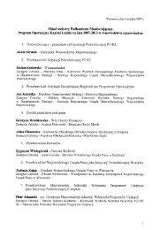 Skład osobowy Podkomitetu Monitorującego Program Operacyjny ...