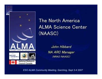 The North America ALMA Science Center (NAASC) - ESO