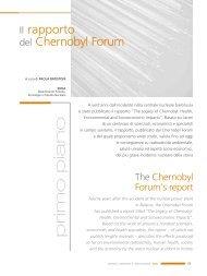 Il Rapporto del Chernobyl Forum - Enea