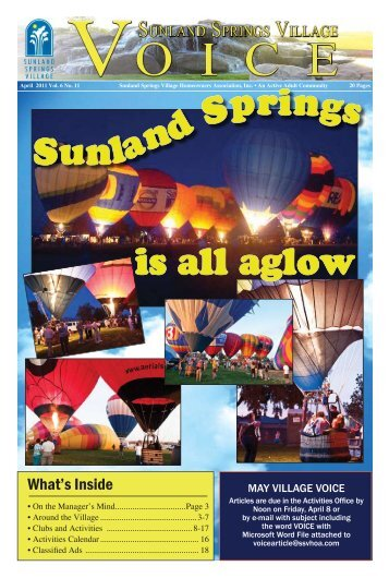 April - Sunland Springs Village Active 55+ Living