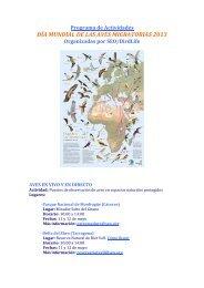 PROGRAMA DE ACTIVIDADES DM AVES ... - SEO/BirdLife