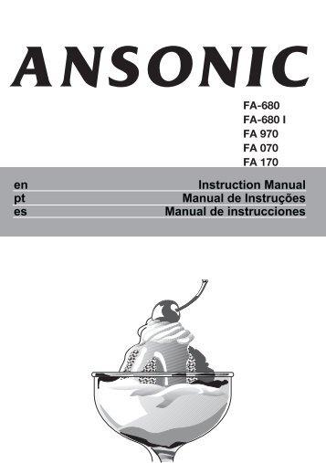 Instruction Manual Manual de Instruções Manual de ... - Areeta