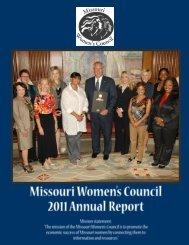 September 2010 Women's Edition - Missouri Women's Council
