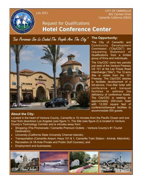 Hotel Site Rfq Page 1pub City Of Camarillo