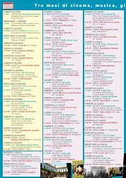 Programma Estate nei Chiostri 2003