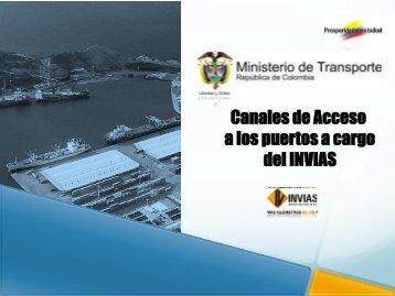 canales de acceso a los puertos publicos de la nacion marco ... - Fitac