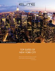TOP SUITES OF NEW YORK CITY - Elite Traveler