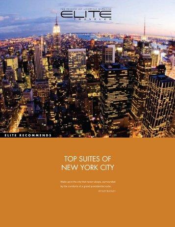 TOP SUITES OF NEW YORK CITY - Elite Traveler