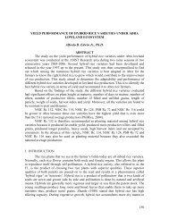 150 YIELD PERFORMANCE OF HYBRID RICE VARIETIES UNDER ...